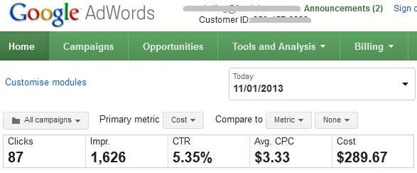 Good Google AdWords CTR