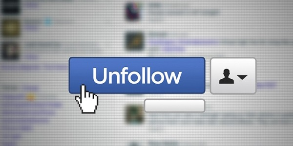 Unfollow Facebook Friends