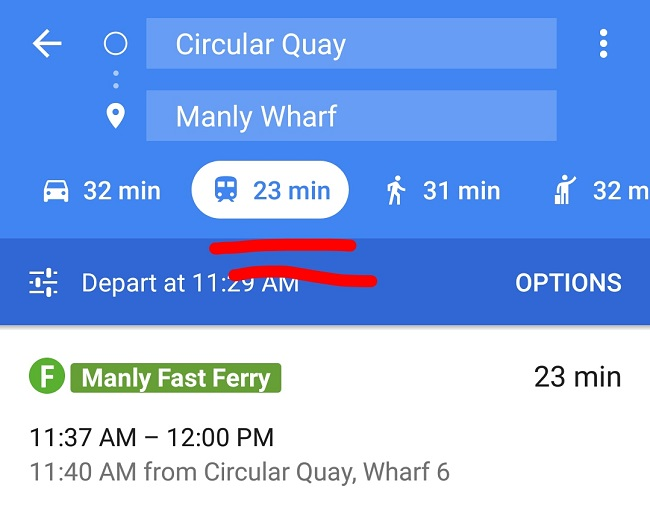 visit manly google maps app