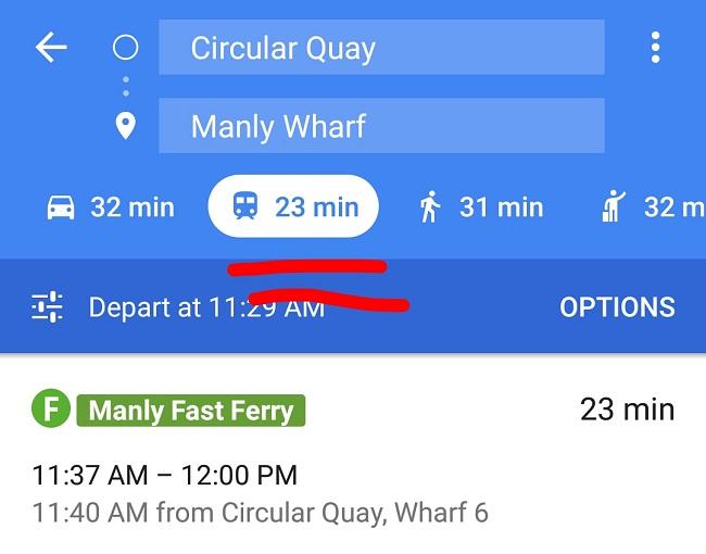 visit manly google maps app